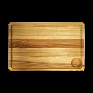 Träskärbräda med Ränna 40 cm Ask